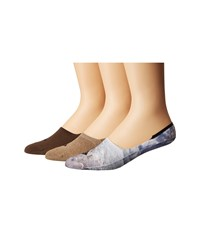 Sperry Time And Tide Printed Cushioned Liner 3 Pack Gray Men's Low Cut Socks Shoes