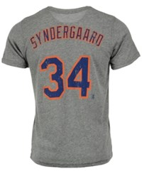 Majestic Men's Noah Syndergaard New York Mets Tri Blend Player T Shirt Heather Gray