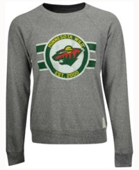 Retro Brand Men's Minnesota Wild Tri Blend Crew Neck Sweatshirt Gray