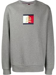 Tommy Hilfiger Logo Patch Sweatshirt Grey