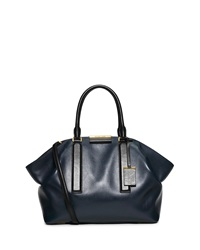Lexi Large East West Satchel Bag Navy Black Michael Kors