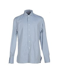 Alain Shirts Shirts Men Pastel Blue