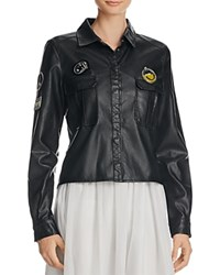 Lea And Viola Faux Leather Shirt Compare At 150 Black