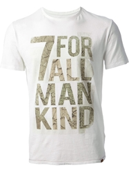 7 For All Mankind Logo Print T Shirt White