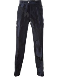 Versus Camouflage Texture Slim Fit Trousers Blue