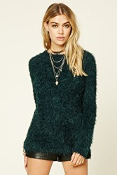 Forever 21 Fuzzy Knit Sweater Top