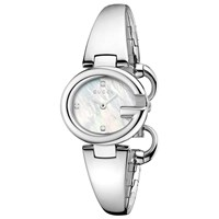 Women's Guccissima Stainless Steel Bangle Strap Diamond Watch Silver