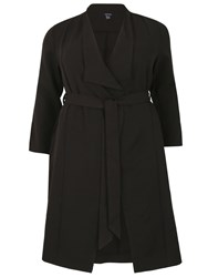 Samya Plus Size Belted Trench Coat Black