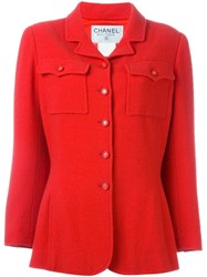 Chanel Vintage Fitted Jacket Red