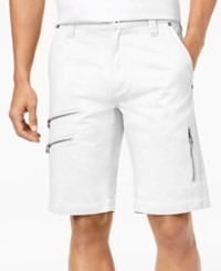 Inc International Concepts Men's Zip Detail Shorts Created For Macy's White Pure