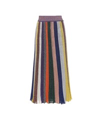 Missoni Metallic Wool Blend Skirt Multicoloured