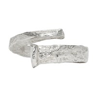 Pearls Before Swine Silver Polish Forged Ring
