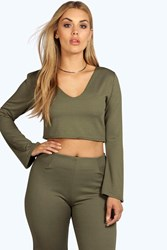 Plus Gemma Plunge Crop Top