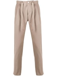 Entre Amis Tapered Chino Trousers Neutrals