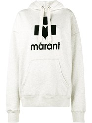 Etoile Isabel Marant Mansel Logo Print Hoodie Women Cotton Polyester 44 Nude Neutrals