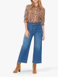 Gerard Darel Lauryne Wide Leg Cropped Jeans Blue