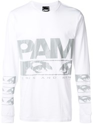 P.A.M. Perks And Mini Pam Aiden Graphic Print Logo Top White