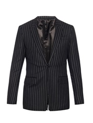 Givenchy Raw Edge Pinstripe Wool Blazer
