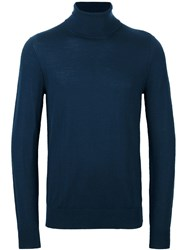 Michael Kors Collection Roll Neck Jumper Blue