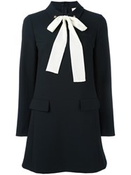 Red Valentino Bow Tie Dress Black