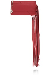 Dkny Fringed Leather Clutch