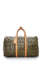Wgaca Louis Vuitton Stephen Sprouse Keepall 50 Bag Previously Owned Brown Green