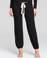 Eberjey Heather Cropped Pants Black