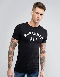 Asos Muhammad Ali Print Muscle Fit T Shirt Black