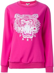 Kenzo 'Tiger' Sweatshirt Pink And Purple