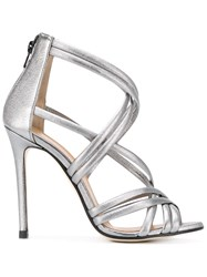 Marc Ellis Metallic Stiletto Sandals Grey