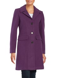 1 Madison Wool Blend Button Front Coat Majesty Purple