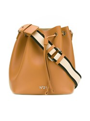 N 21 No21 Bucket Style Shoulder Bag Brown