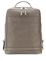 Pineider Rectangular Backpack Grey