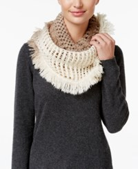 Steve Madden Made In The Shade Infinity Scarf Ivory