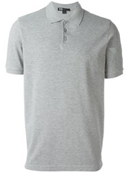 Y 3 Logo Polo Shirt Grey