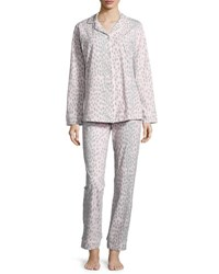 Bedhead Animal Print Pajama Set Pink Gray Plus Size Pink Grey Lynx