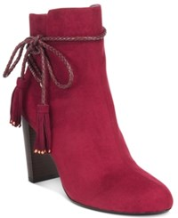 Thalia Sodi Palomaa Rope Tie Booties Only At Macy's Women's Shoes Elderberry