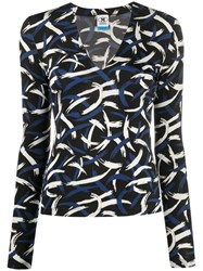 M Missoni Abstract Print Top Blue
