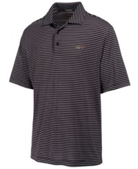 Greg Norman For Tasso Elba Men's Big And Tall 5 Iron Striped Performance Polo Only At Macy's Deep Black