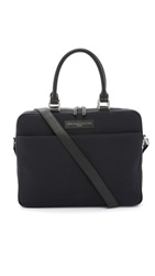 Want Les Essentiels Haneda Slim Briefcase Black Navy Multi