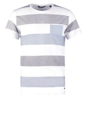Only And Sons Onskadir Fitted Print Tshirt White
