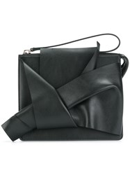 N 21 No21 Abstract Bow Clutch Bag Black