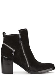 Kenzo Black Zipped Suede Ankle Boots