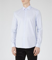 Reiss Nash Mens Slim Fit Cotton Shirt In Blue
