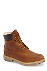 Timberland Premium Faux Shearling Lined Waterproof Boot Brown