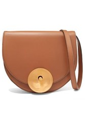 Marni Monile Large Leather Shoulder Bag Tan