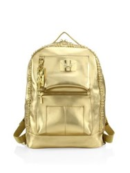 Robin's Jeans Swarovski Stone Accented Backpack Silver Gold
