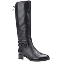Geox Felicity A Block Heeled Knee High Boots Black Leather