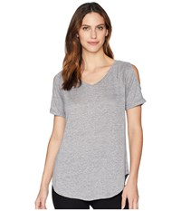 Mod O Doc Linen Jersey Cold Shoulder Raglan Tee Grey T Shirt Gray