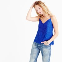 J.Crew Petite Carrie Cami In Floral Lace
